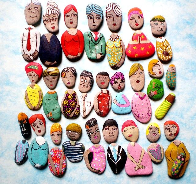 måla sten inpiration tips ide figurer hobby diy stenmålningar