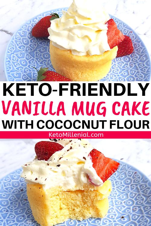 Keto Vanilla Mug Cake With Coconut Flour & Cream Cheese ...