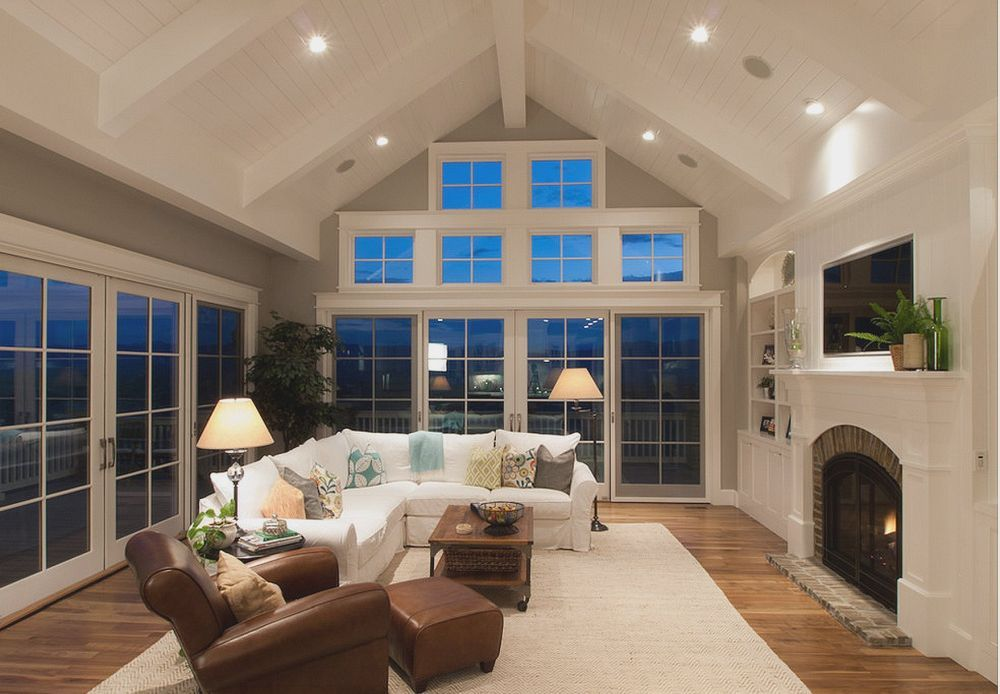 Choosing Types Of Ceilings Is An Important Design Decision Vaulted Ceiling Living Room Types Of Ceilings Traditional Family Rooms