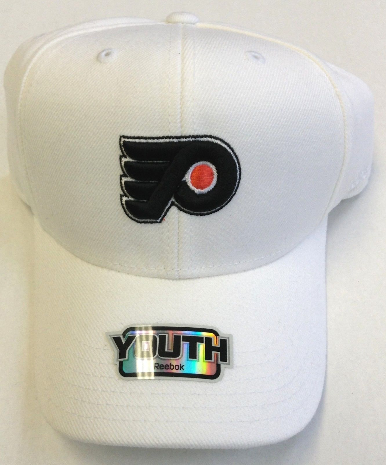 8332308e974  9.99 - Nhl Philadelphia Flyers Reebok Cap Youth Velcro-Back Adjustable  Structured Hat  ebay