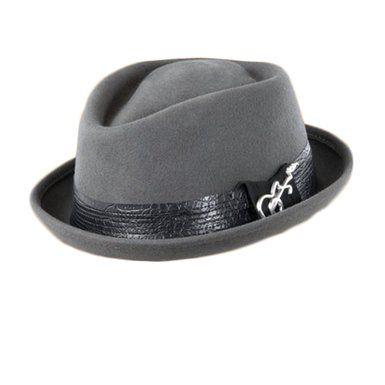 Carlos Santana Ringo Diamond Crown Fedora Hat at Amazon Men s ... a1c3f2d23df