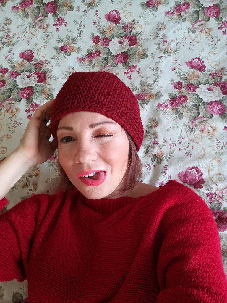 Pronta Spedizione Chunky Hat Cappello Cloche Di Lana Grossa Fatto