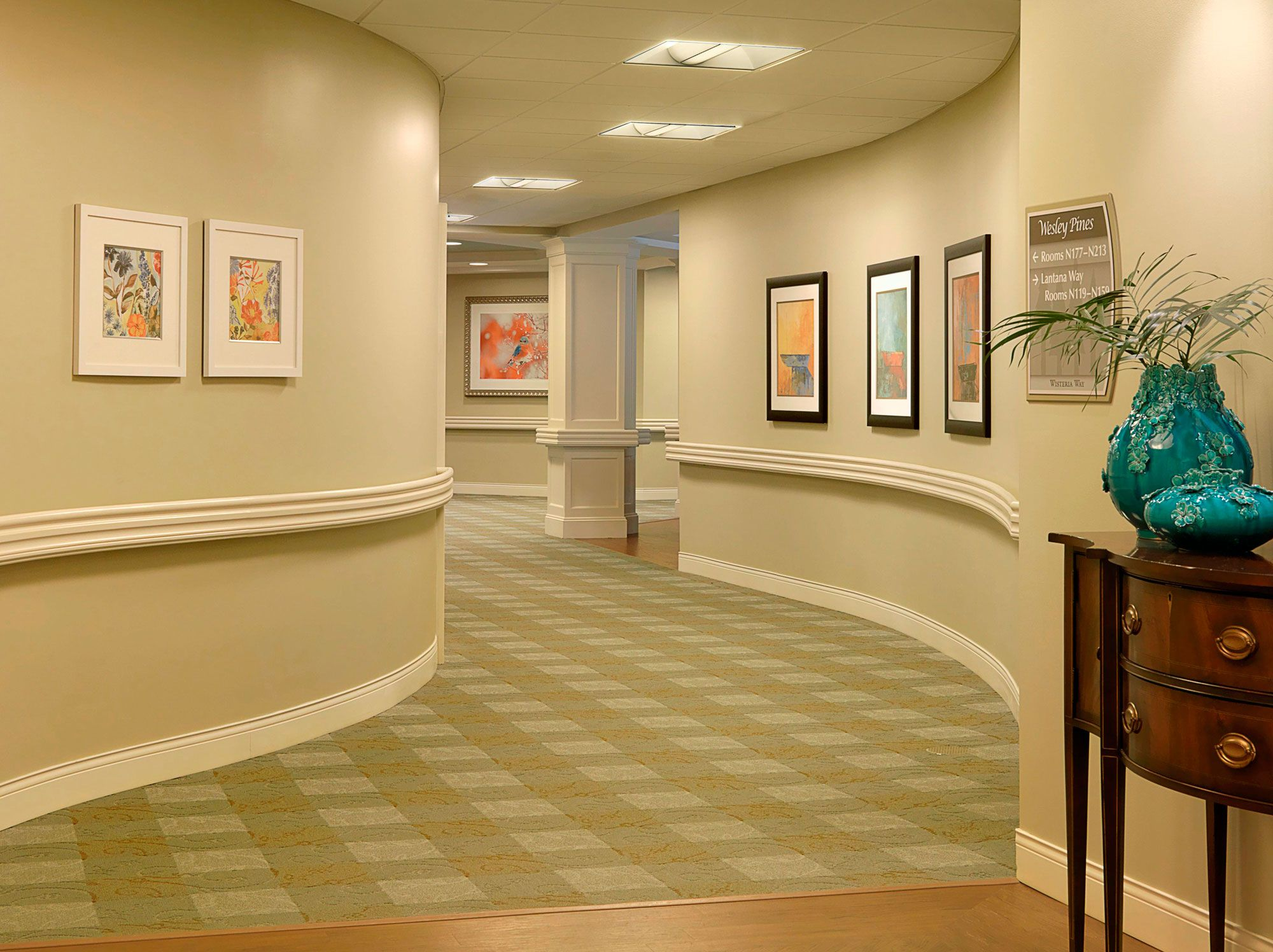 Curved Corridors Wesley Pines Retirement Community Spellman Brady Company Future Ideas