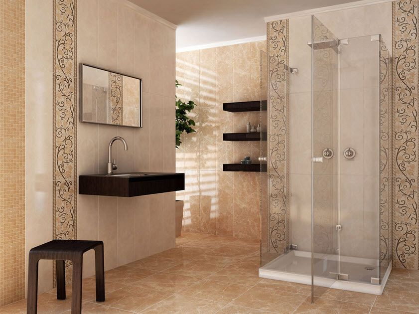 bathroom ideas cream tiles