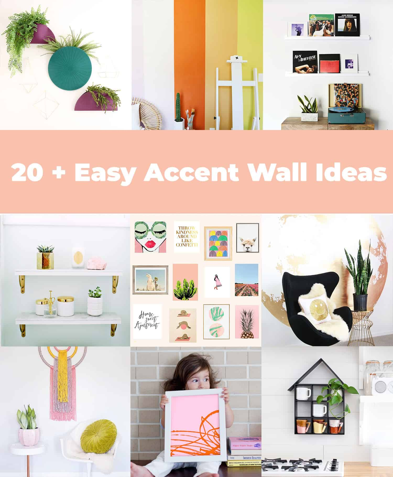 Easy Accent Wall: 20+ Easy Accent Wall Ideas