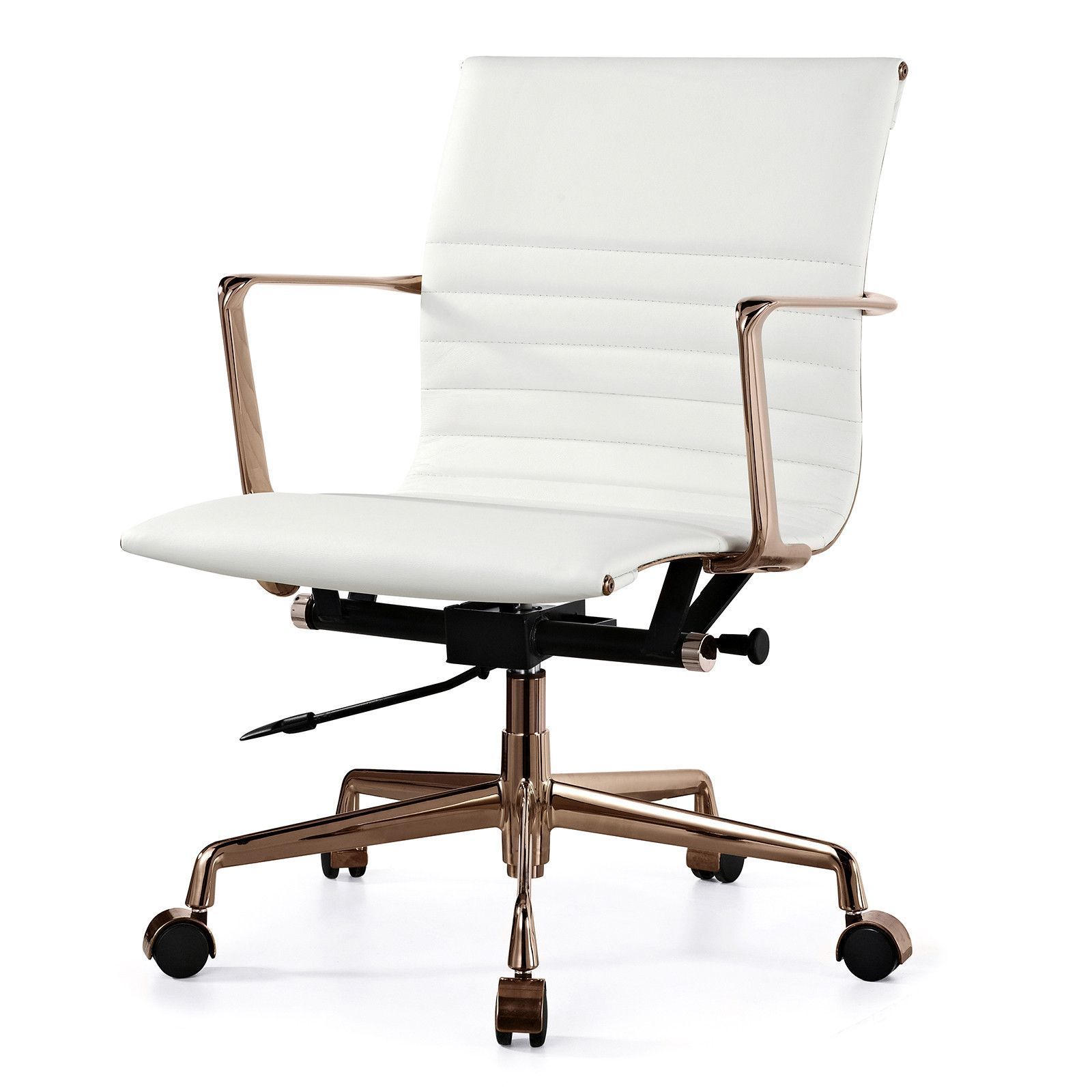 M5 Office Chair In Aniline Leather Polished Aluminum Gray Executive Office Chairs Chair Furniture