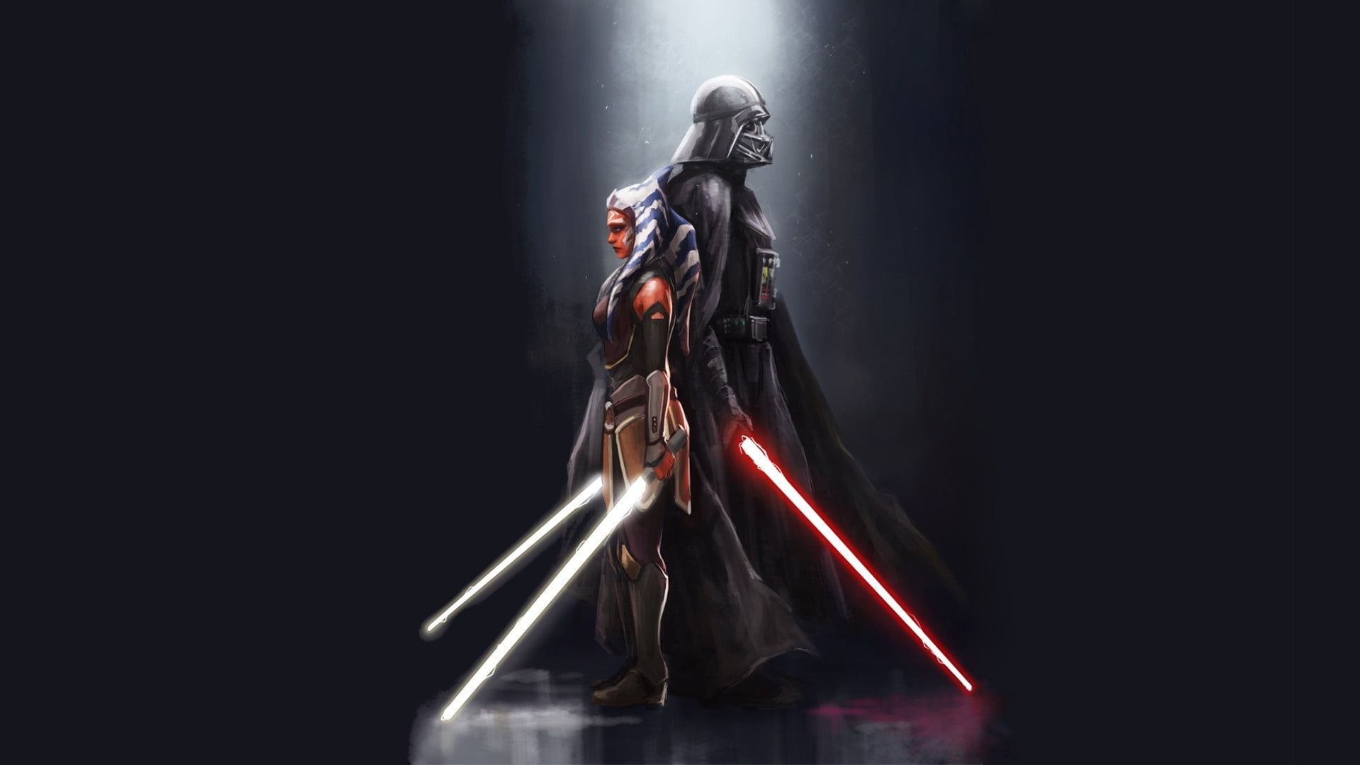 Star Wars Star Wars Rebels Ahsoka Tano Darth Vader 1080p Wallpaper Hdwallpaper Desktop Star Wars Ahsoka Darth Vader Wallpaper Star Wars Wallpaper Hd 1080p epic star wars wallpaper