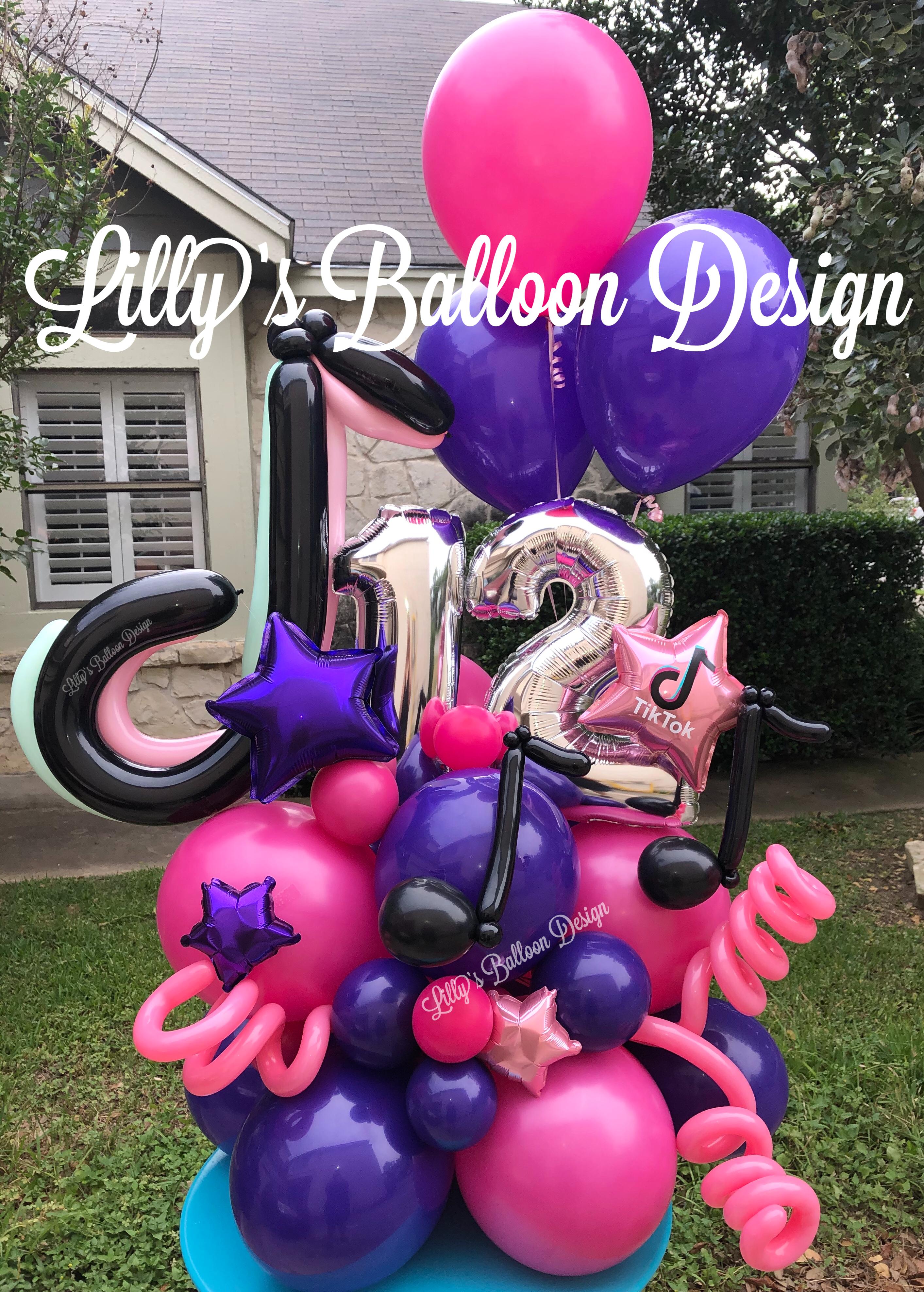 Tiktok Balloons Birthday Balloons Balloons Twelfth Birthday