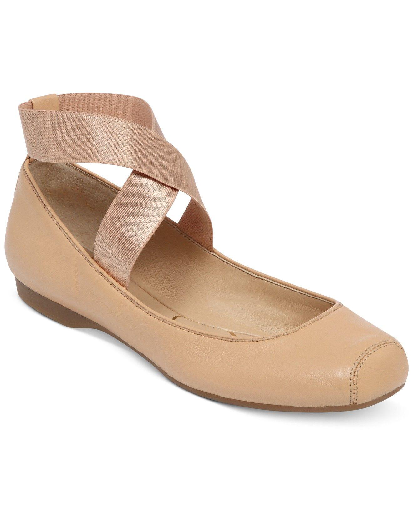 Jessica simpson mandalaye elastic ballet flats shoes macyus my