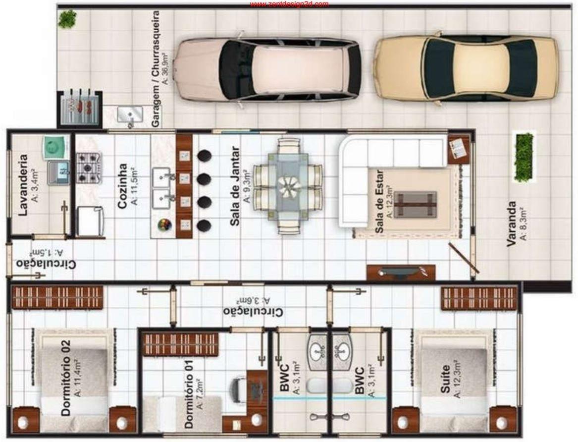 planos de casas de dos pisos de 250