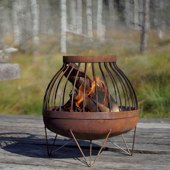 Steel Fire Pit Somma By Arpestudio On Etsy