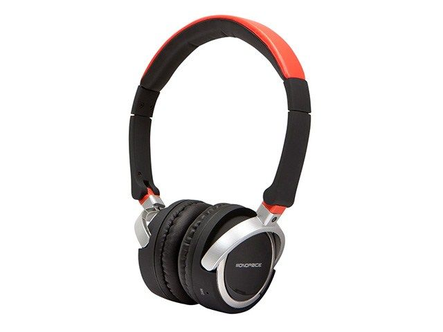 Premium Bluetooth™ On-the-Ear Headphone with Built-in Microphone - Red - Monoprice.com