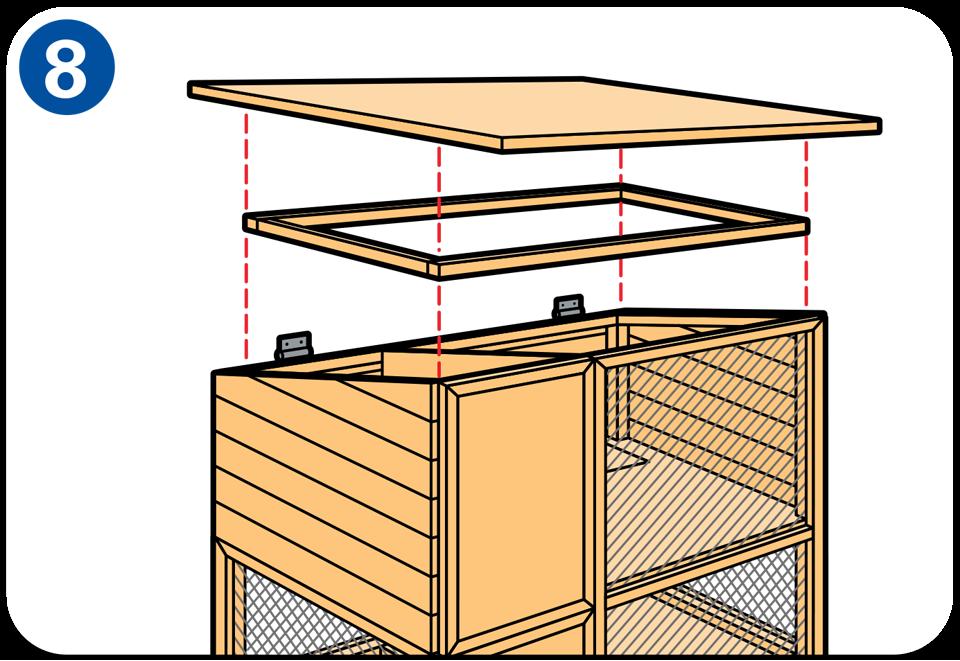 construire un clapier lapin pose du toit poules et. Black Bedroom Furniture Sets. Home Design Ideas