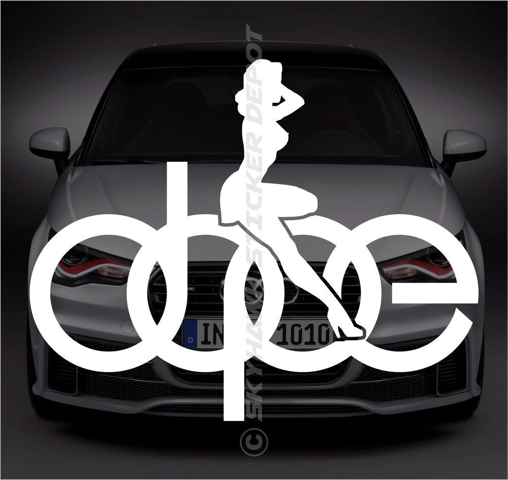Dope sexy girl logo sticker vinyl decal german car sticker ill euro for bmw audi 3m