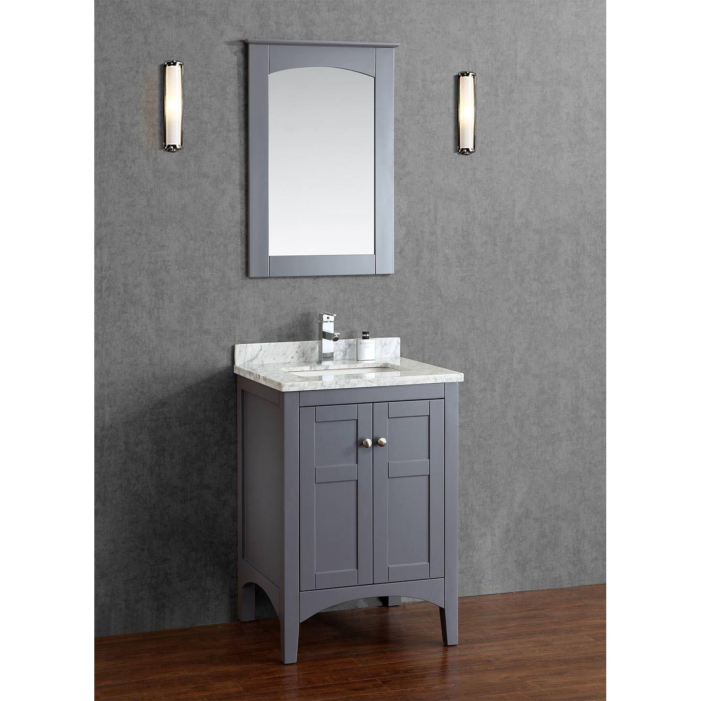 Martin 24 Solid Wood Single Bathroom Vanity In Charcoal Grey Hm