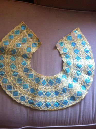 Costume Junior Adult Sz Sequin Neckpiece for Gypsy Cleopatra Belly Dancer Etc | eBay