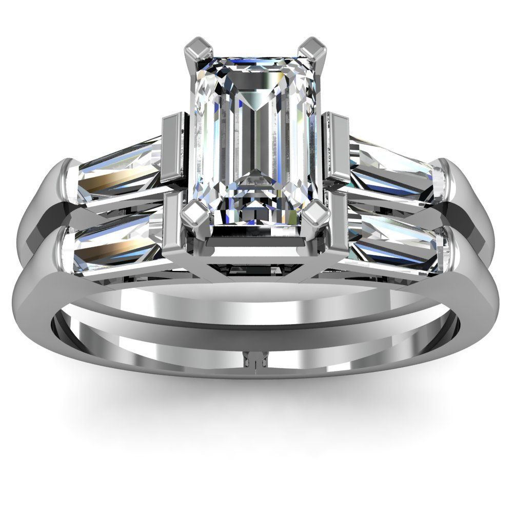 Diamond Engagement Set Emerald Cut