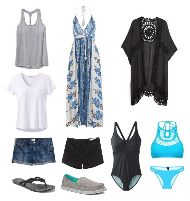 """Weekend Beach Getaway"" by tracy-signup on Polyvore featuring prAna, J.Crew, rag & bone, Gap, SONOMA Goods for Life and sanuk"