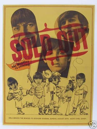 original beatles concert poster dodger