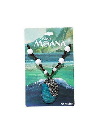 Moana Necklace Hot Topic : moana, necklace, topic, Disney, Moana, Heart, Replica, Necklace, Fiti,, Jewelry,
