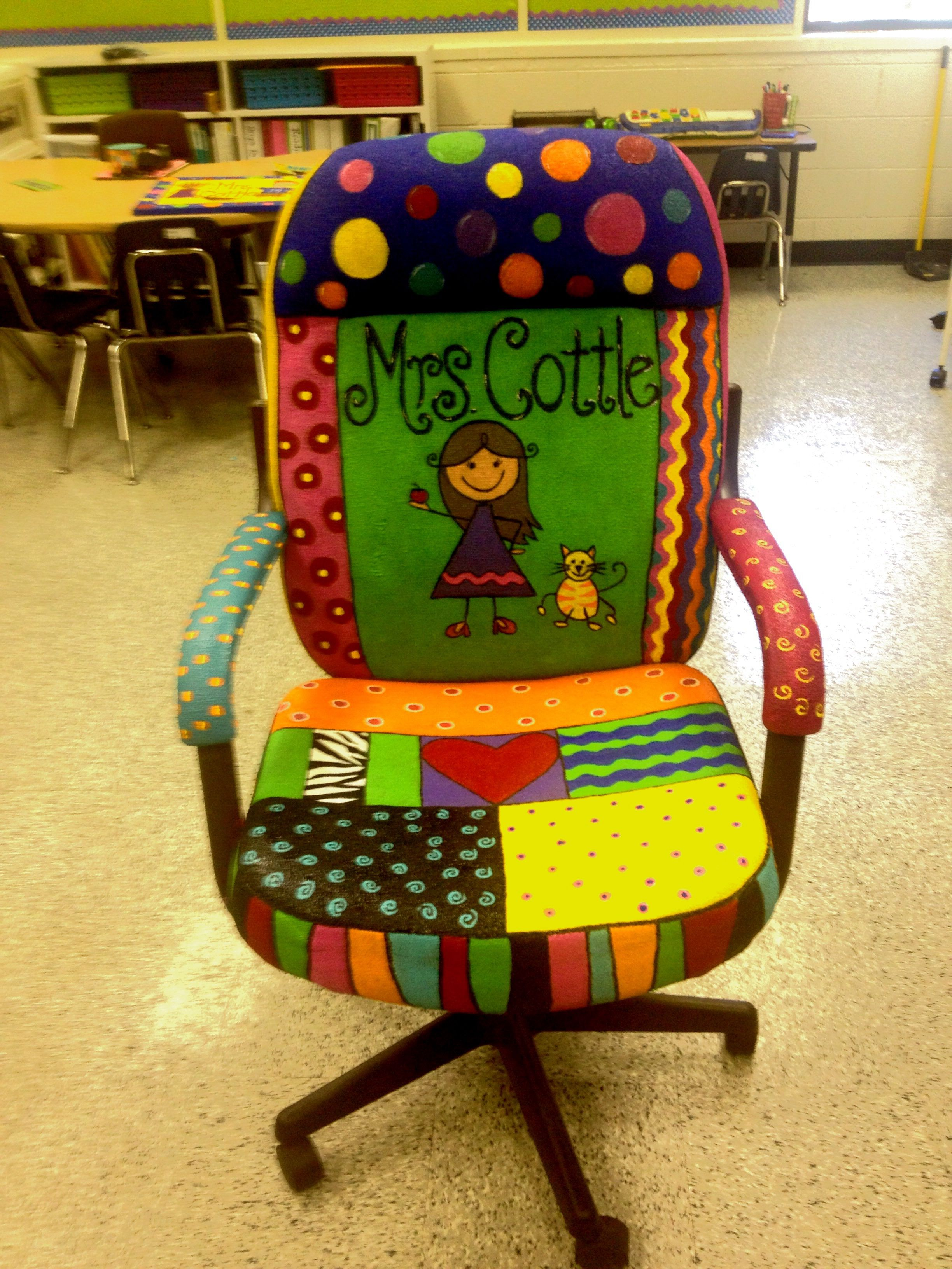 Painted Chair For Teachers Author S Chair Love It
