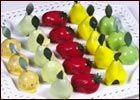 Fruit shape pastries.