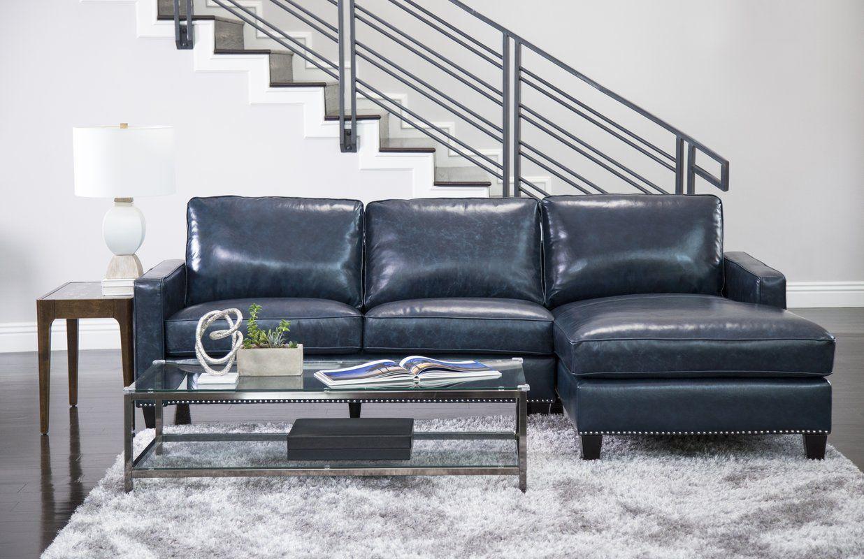Samatha Leather Sectional Top Grain Leather Sectional Sectional Sofa Couch Leather Sectional