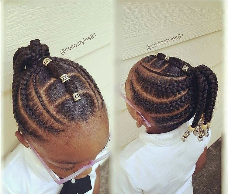 Saw This In Pinterest So Cute Black Kids Hairstyles Natural Hairstyles For Kids Kids Braided Hairstyles