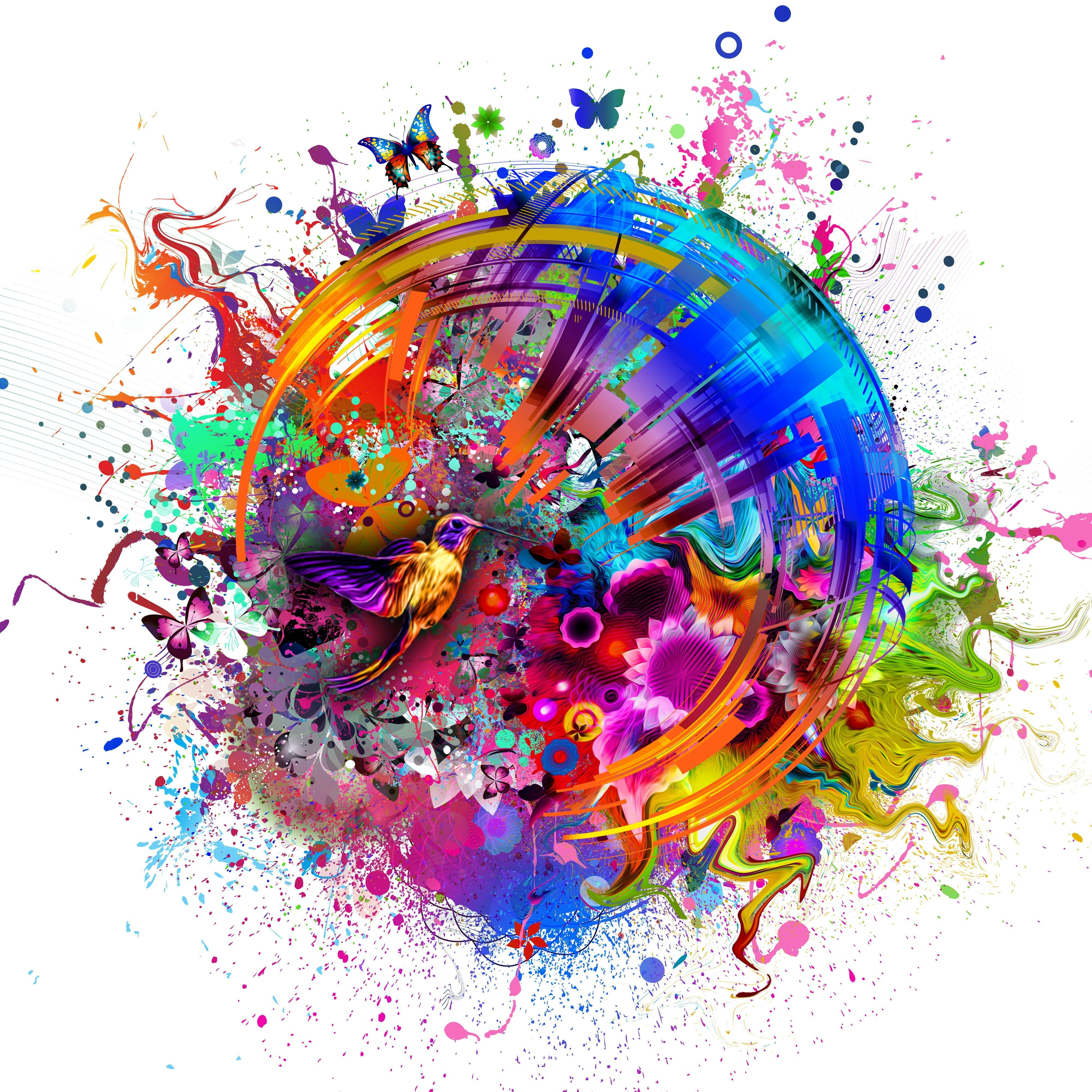 4k Wallpaper Colorful 3d Wallpapers Abstract Wallpaper Abstract Painting Wallpaper