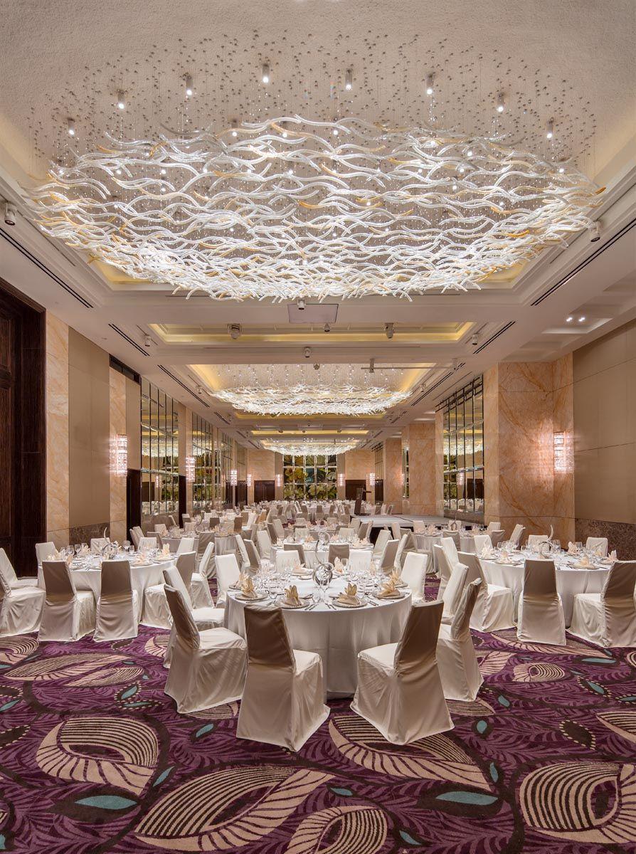 Westin Singapore Grand Ballroom Hotel Chandelier Ballroom Design Hall Decor