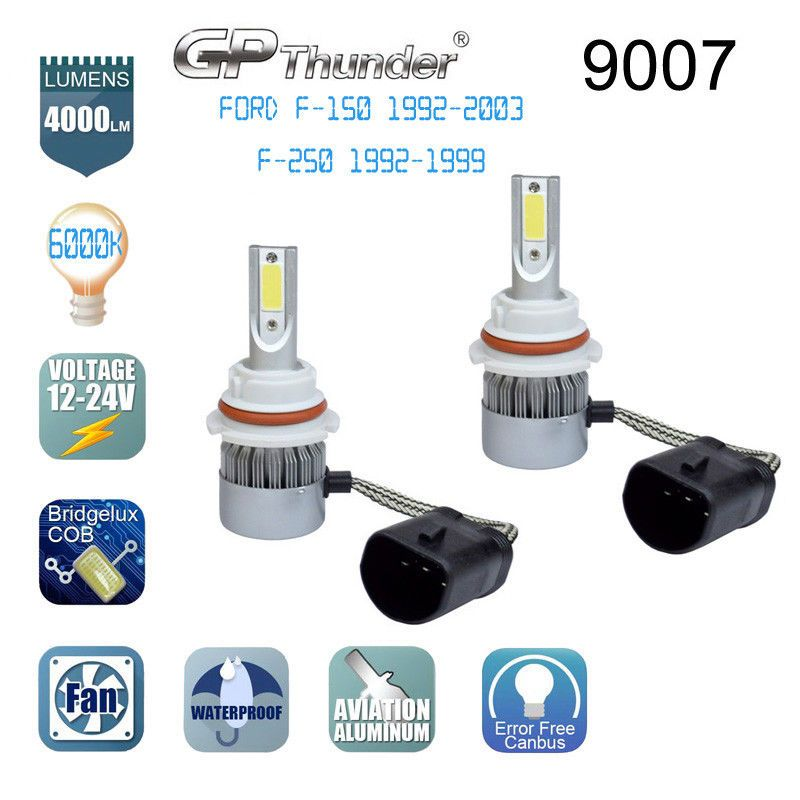 9007 Hb5 Led Headlight Bulb For Ford F 150 1992 2003 F 250 1992 1999 Cob
