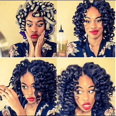 Amazing Curls With Flexi Rods Hair Pinterest Natural Hair