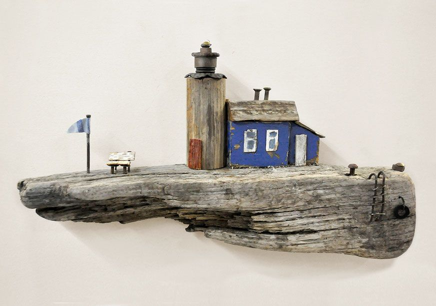 treibholz kunst art driftwood meer sea ocean kutter schiff boot leiter lighthouse leuchtturm. Black Bedroom Furniture Sets. Home Design Ideas
