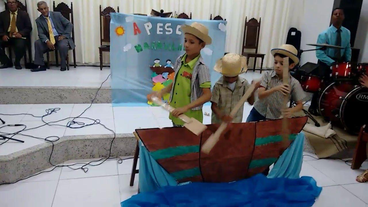 Culto Infantil A Pesca Maravilhosa Infantil Igreja De