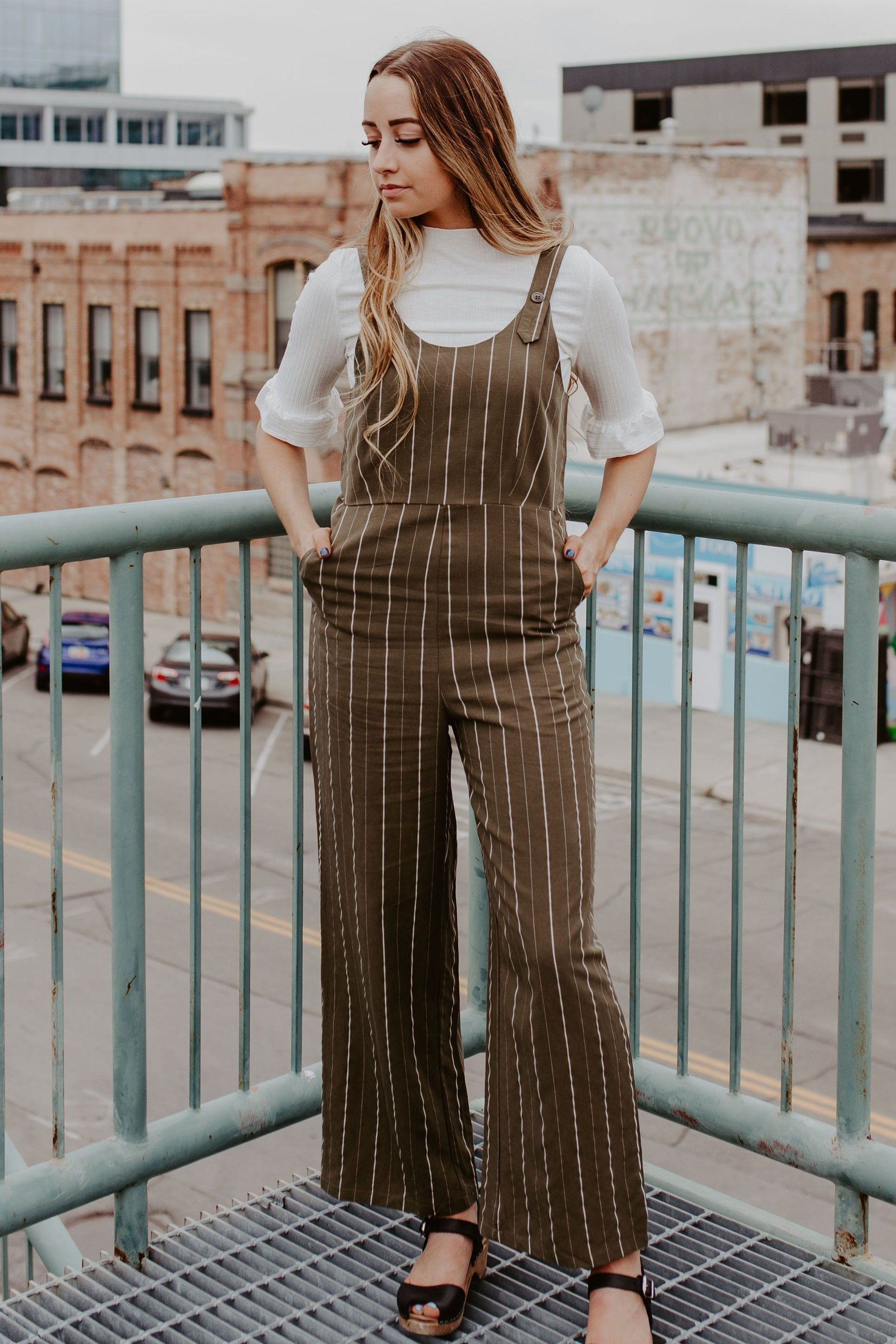 Hunter Stripe Jumpsuit One Loved Babe Striped jumpsuit