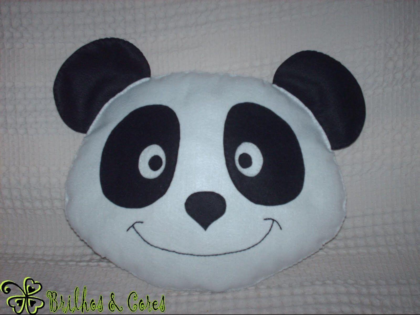 almofada panda feltro - Pesquisa Google