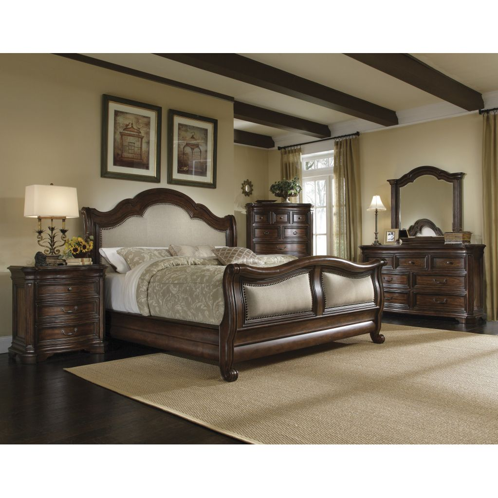 king size bedroom sets Kingsize Corondo 4piece Wood Linen