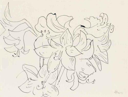 Tremendousandsonorouswords henri matisse dessin la plume fleur de lys 1941 dw - Dessin fleur de lys ...