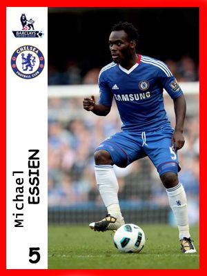 Michael Essien, played for Chelsea in season 2010-11