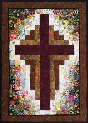 At The Cross Watercolor Quilt Kit Www Whims Cc Cross Quilt