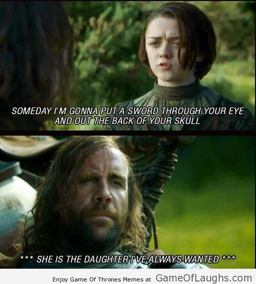 8d926107f62b89e8f4125141a78c8ad9 the hound always wanted a daughter like this game of thrones
