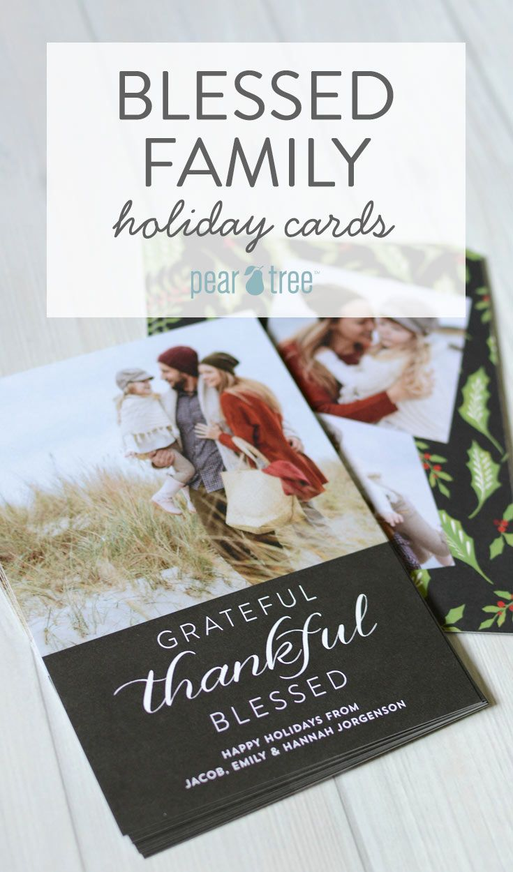 What To Send This Season Blessed Family Holiday Cards Family