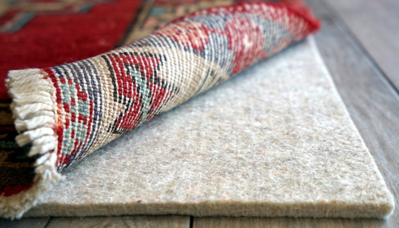 Eco Plush Non Bunching Cushioning Rug Pad 0 25 In 2020 Rug Pad Sound Proofing Area Rug Pad