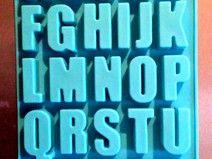 Silikonform Buchstaben Alphabet Je 5 X 2 4 Cm Beton Deko