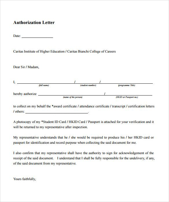 example authorization letter download word pdf template Home - example of authorization letter