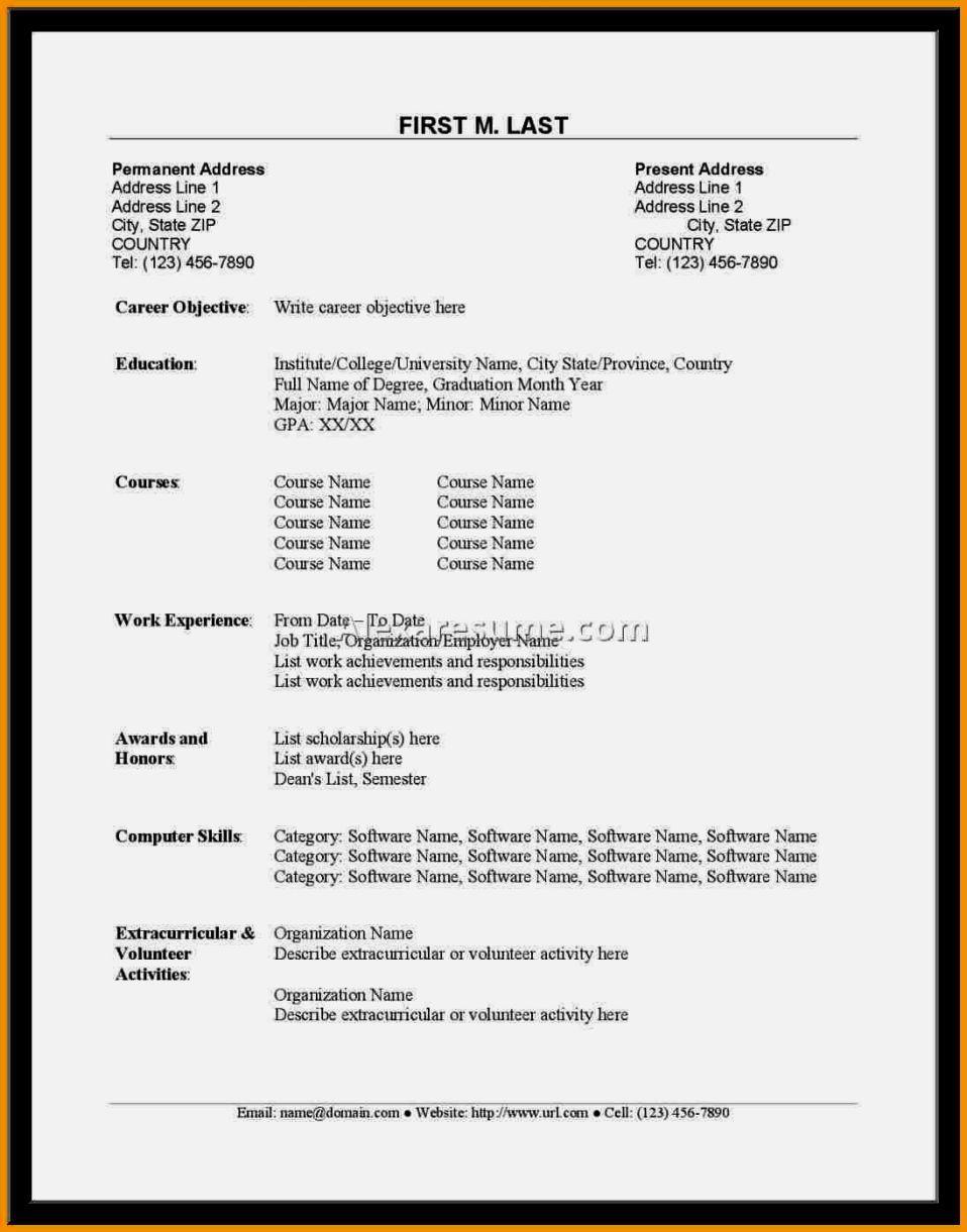 cv samples for fresh graduates in nigeria - Resume Letter For Fresh Graduate