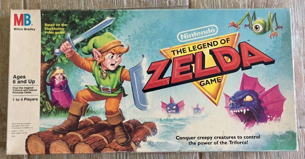 Vintage 1988 Nintendo Legend of ZELDA Milton Bradley 80s