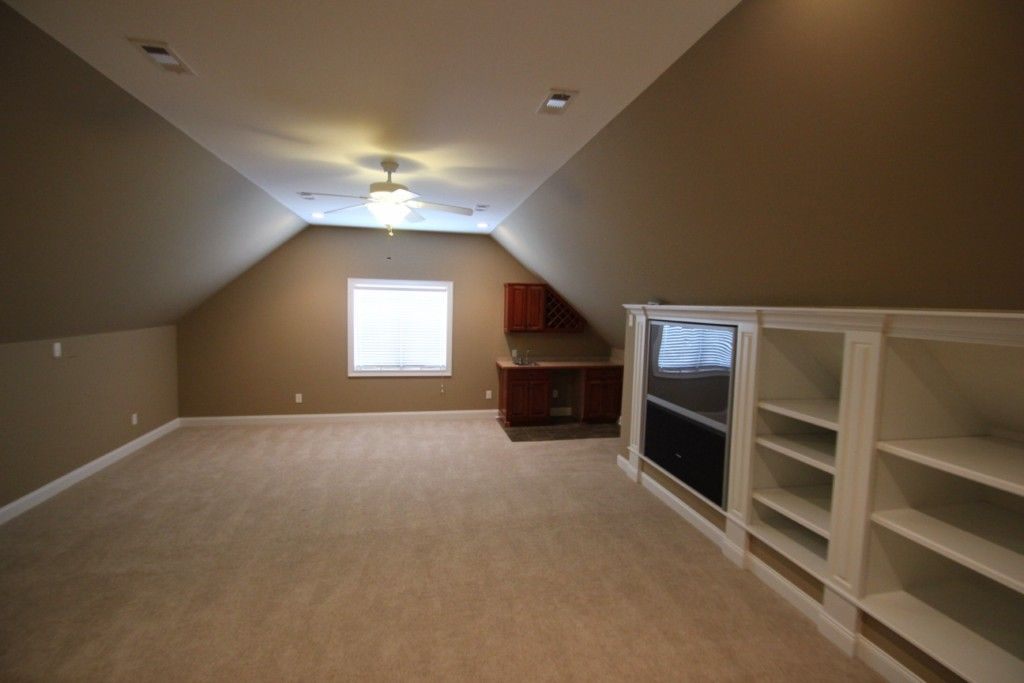Bonus Room Built Ins Covered Front Porch Screened In
