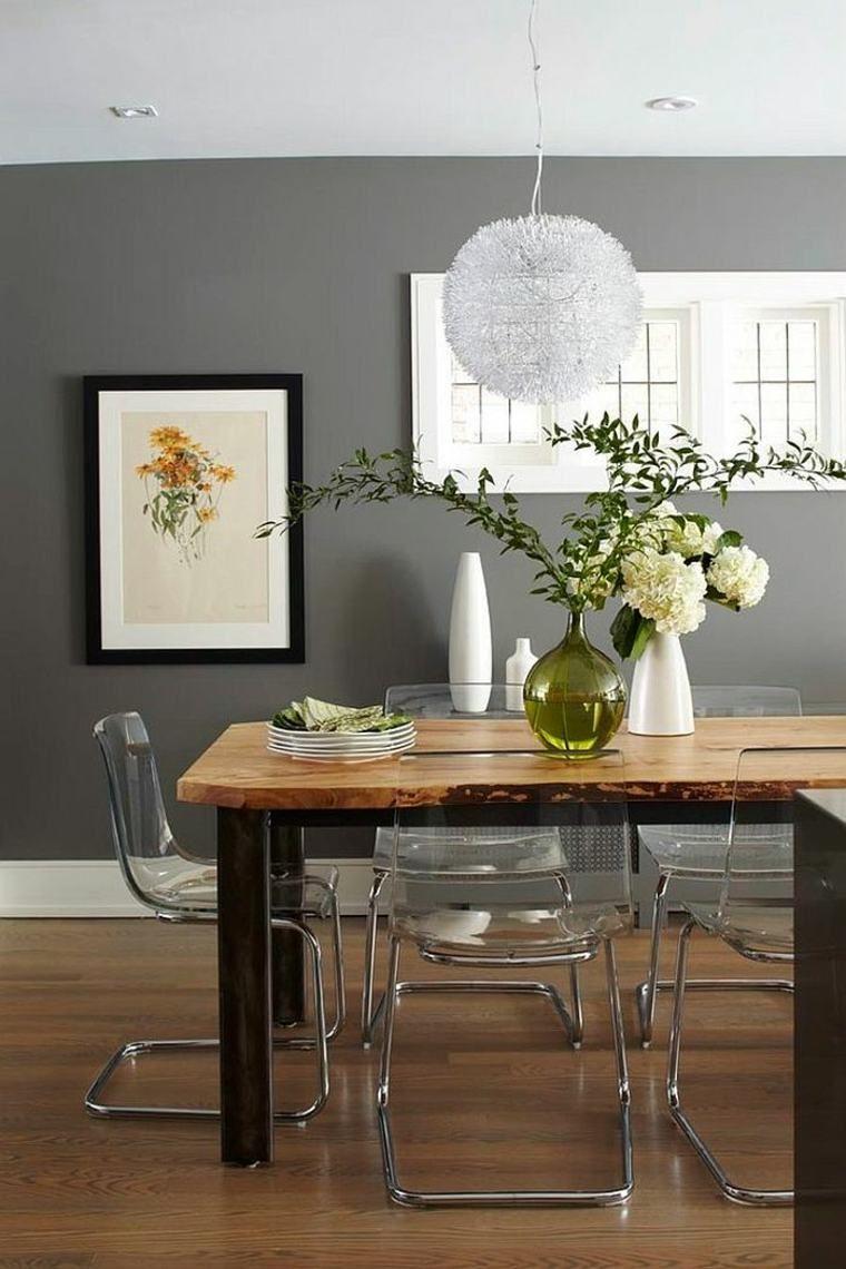Tendances De Peinture Murale En Gris Dining Room Walls