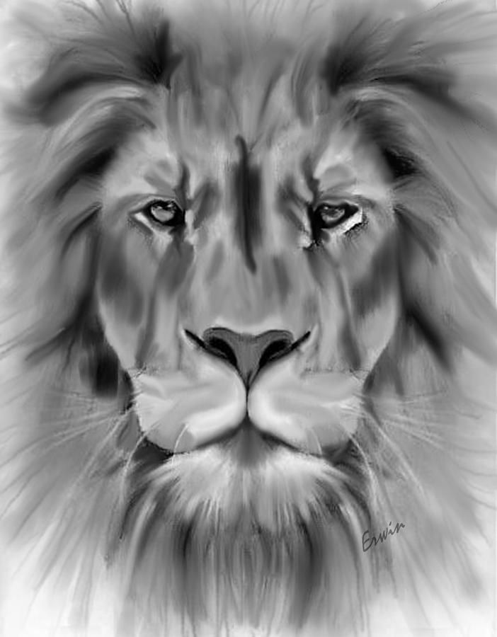 King Of The Jungle Art Print By Erwin Verhoeven Jungle Art Lion Drawing Animal Drawings